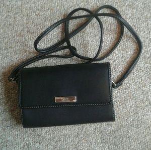 Chaps black wristlet/purse